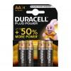 Baterija šarminė R6 (AA) 1.5V DURACELL Plus power (4vnt blisteryje)