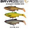 Guminukas SG 3D Roach 12.5cm 35g 3pcs Kit