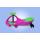 SVINGIS Evo LS Rožinis/w LED Pink_Green line