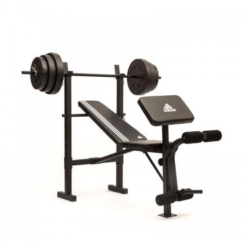 Treniruočių suoliukas su štanga 45 kg. ADBE-10349