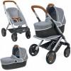 Smoby Maxi Cosi 3 in 1 veltinis vežimėlis lėlėms