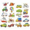 """Medinių magnetų rinkinys """"Viga Toys"""" transporto priemonės"""