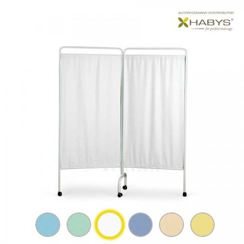 Dviejų dalių širma HABYS Parawan Standard II White
