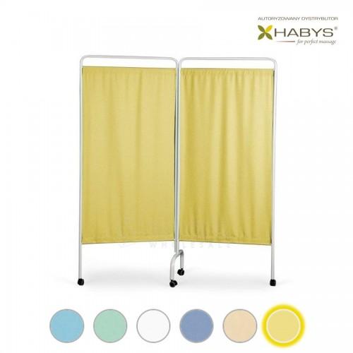 Dviejų dalių širma HABYS Parawan Standard II Yellow