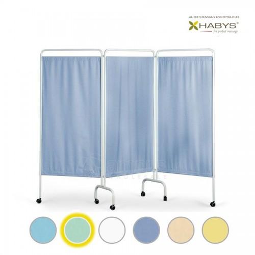 Trijų dalių širma HABYS Parawan Standard III Blue