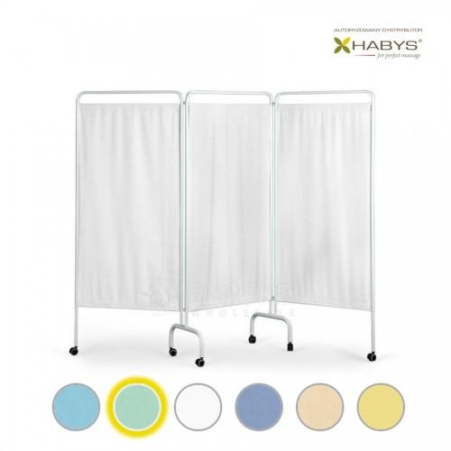Trijų dalių širma HABYS Parawan Standard III White