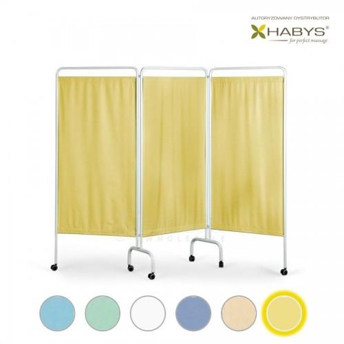 Trijų dalių širma HABYS Parawan Standard III Yellow